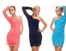 Lace One Shoulder Party Plus Size Dresses for Women