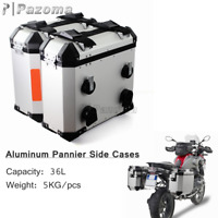 36L Left Right Side Case Saddle Bag Luggage Pannier For BMW F800GS F800R 09-2014