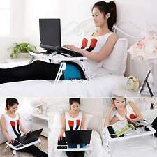 Adjustable Portable Laptop Notebook Desk Table Foldable Stand Bed Sofa W/USB fan