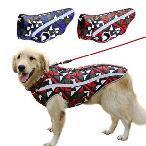 Waterproof Dog Winter Clothes Reflective Pet Warm Jacket Medium Large Dogs Coat