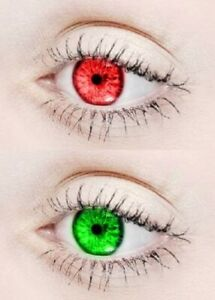 Red, Green Monthly Color eye disposable eye makeup beauty partywear
