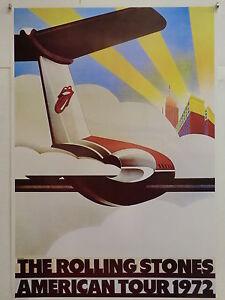THE ROLLING STONES AMERICAN TOUR 1972 manifesto NON TELATO originale