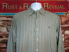 Ralph Lauren Wild Stripe Shirt Mens Size M Long Sleeve Button Pony Custom Fit
