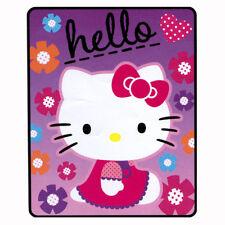 """Sanrio Hello Kitty Soft Warm Fleece Throw Blanket 40""""x50"""" Flowers Pink Northwest"""