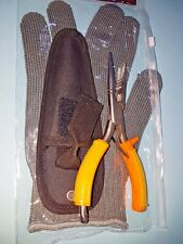 STRONG DISGORGER STAINLESS PLIER Pike Predator 17CM  pouch included FREE GLOVE