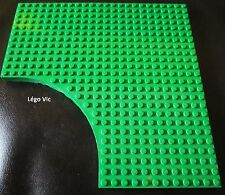 Lego Aventure 6161 Brick 24 x 24 without 12 x 12 1/4 Circle Green Vert du 5987