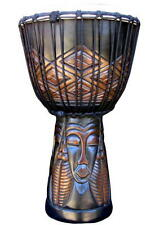 24x12 Tribal Faces Design Djembe Bongo Hand Drum