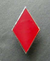 US ARMY 5TH INFANTRY DIVISION LAPEL PIN BADGE 1 INCH RED DIAMONDS