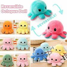 Octopus Doll Doppelseitiger Flip Octopus Plüschtier Puppenpuppe Marine Life Soft