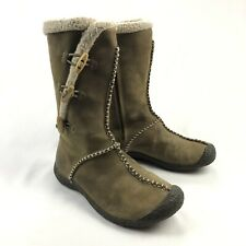 KEEN Kaley Womens 7 Brown Nubuck Leather Winter Toggle Boots