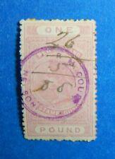 1886 1P NEW ZEALAND STAMP DUTY REVENUE SCOTT# AR15 SG#F33 B# 248 USED    CS33363