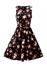 OUGES Women's Christmas Gifts Santa Fit and Flare Cocktail Dress XL NWT