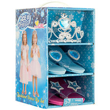 Frozen Ice Princess Dress Up Costume Party Set 2 PAIR Shoes Slippers + Tiara BL