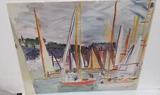 """RAOUL DUFY """"HARBOR AT DEAUVILLE 1935"""" COLOR OFFSET LITHOGRAPH"""