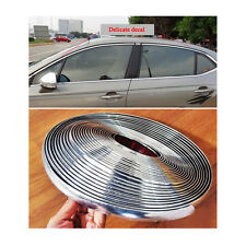 15mm / 39ft Auto Car Bright Silver Chrome Moulding Trim Bumper Strip Adhesive