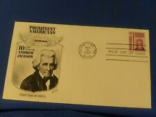 Scott #1286 10 Cent Stamp Honoring Andrew Jackson First Day Issue