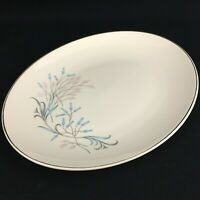 "VTG Oval Serving Platter 12 1/2"" Edwin Knowles Kalla KNO195 Pink Teal Floral USA"