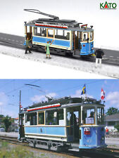 Elektrisk Motorvagn 1902 - HO/N gauge (HOe) - motorized with figures KATO ATLAS