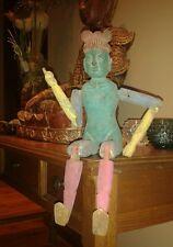 Antigua Figura de Buda de madera articulada del Tibet Art-folck