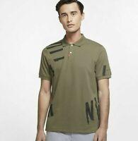 NWT NIKE Golf HACKED POLO DriFit Wicking OLIVE BLACK Shirt CK6097-222  Mens L-XL
