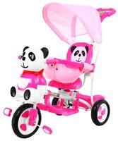 Kinderdreirad Dreirad Kinderrad Fahrrad Lenkstange mit Dach Soundeffek Pink Neu