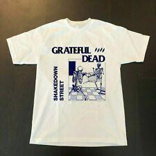 GRATEFUL DEAD Shakedown Street Concert Cotton White T-Shirt Regular Size S-3XL