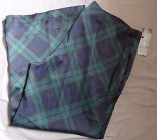 Lauren Ralph Lauren Blue Green Plaid Ladies Pajama Pants Size 16 Fitted Side Zip