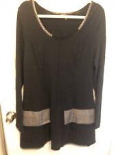 5. New Hebbeding Black Dress Tunic Patch Plaid Pockets 1