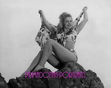 CLEO MOORE 8X10 Lab Photo 1950s SEXY SWIMSUIT GLAMOUR GIRL Portrait
