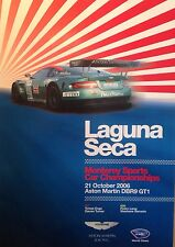 Aston Martin DBR9 GT1 Laguna Seca 2006 Event Extremely Rare Car Poster:>)