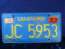 "1970's-80's California TRAILER License Plate ID Tag DMV CLEAR! ""JC 5953"" Great!!"