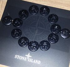 **4 x SUPERB NEW STONE ISLAND JACKET 14MM REPLACEMENT ARM BLACK GLOSS BUTTONS**