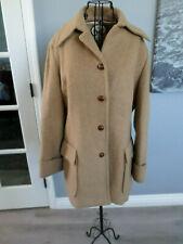 60's 70's Jackfin Abercrombie Fitch Brown Camel Coat Jacket Peacoat Ladies S M