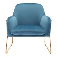 Steel Blue Velvet Chairs For Sale Ebay