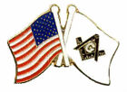 Mason Masonic Freemasonry Lodge Award Patriot Flag USA Tie Tac Hat Pin Gift July