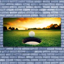 Impression sur verre acrylique Image Tableau 140x70 Nature Balle De Golf Pelouse
