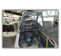 "Messerschmitt Bf-109 G-14 Cockpit luftwaffe WWII WW2 Photo Glossy ""4 x 6"" inch F"