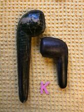More details for pair of antique smoking pipe cases faux alligator skin