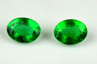 Muzo Colombian Emerald Collection Pair 100% Natural 10-12 Ct Oval AGSL Certified