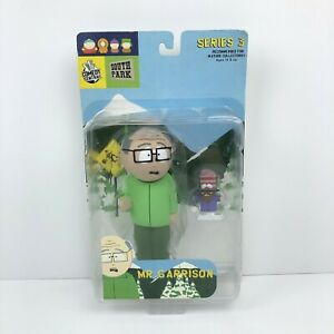 Comedy Central South Park Series 3 Mr Garrison 2004 Mirage Action Figure New