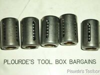 Lot of (5) New INA KH0824PP Linear Motion Bushings, 8mm ID x 15mm OD x 24mm