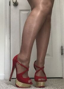 Women's Silky Shiny Sheer Gloss Finish Nylon Pantyhose Sheer Toe Suntan Beige