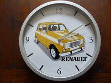 RENAULT 4L pendule murale horloge 20cms ( KDO DKO 4 L R4 TROPHY RAID AUTO CROSS