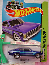 Case A 2014 Hot Wheels CHEVROLET SS (Opala) #199 US Team☆Blue;5sp☆HW Workshop☆