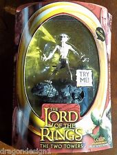 LOTR THE TWO TOWERS. GOLLUM ACTION FIGUREW/ ELECTRONIC SOUND BASE. HALF-MOON PKG