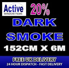 152cm x 6m - 20% Tint Dark Smoke Car Window Tint Film Roll - Pro Quality