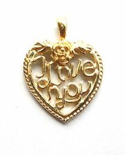 Heart Word Pendant Charm I LOVE YOU For Necklace Chain Rose Valentines Day Gifts