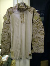 USMC MARINE CORPS DESERT MARPAT COMBAT SHIRT FROG GEAR  MEDIUM LONG NEW