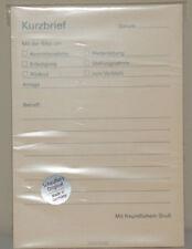 Notizblock Motiv Kurzbrief von Scheuflers original Format A6 mit Rechnung