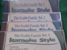 The Crabb Family ~ #1, 2, 3 & 4 ~~ Christian ~ Daywind ~ Karaoke Style ~ CD+G